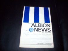 West Bromwich Albion v Liverpool, 1967/68